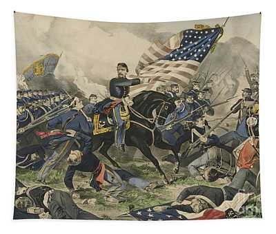 The Battle Of Williamsburg, Virginia On May 5th 1862 Tapestry