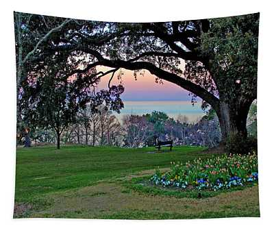 The Bay View Bench Tapestry