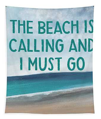 The Beach Is Calling 2- Art By Linda Woods Tapestry