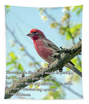 The Birdsong - Spring Quote Tapestry