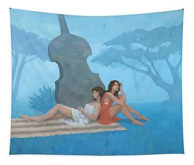 The Blue Garden Tapestry