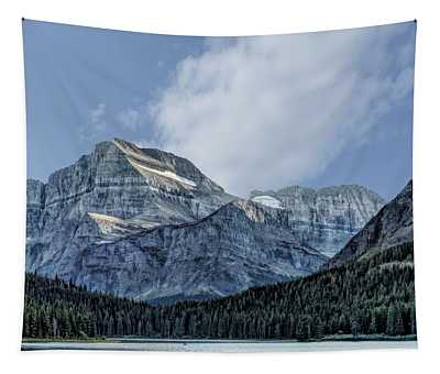 The Blue Mountains Of Glacier National Park Tapestry