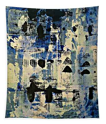 The Blues Abstract Tapestry