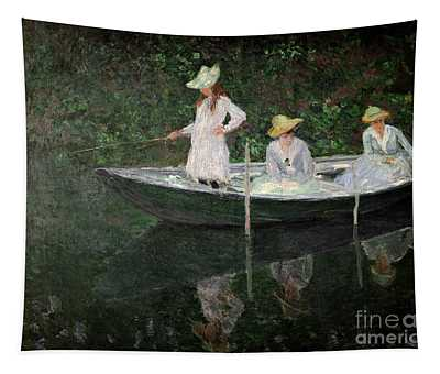 The Boat At Giverny Tapestry
