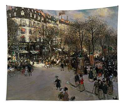 The Boulevard Des Italiens Tapestry