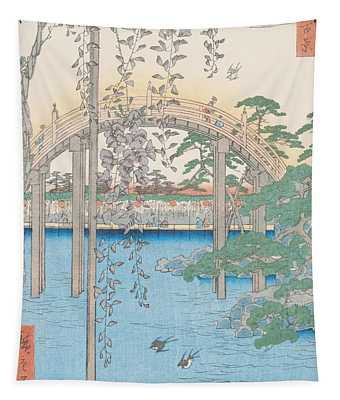 The Bridge With Wisteria Tapestry