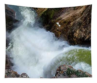 The Brink Of The Lower Falls Of The Yellowstone River Tapestry