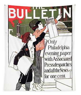 The Bulletin - Magazine Cover - Vintage Art Nouveau Poster Tapestry
