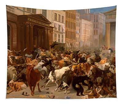 The Bulls And Bears In The Market Tapestry