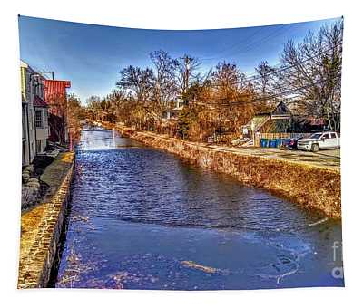 The Canal At New Hope In Winter Tapestry