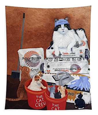 The Cat Crew Tapestry