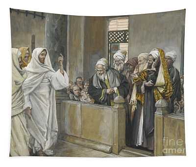 The Chief Priests Ask Jesus By What Right Does He Act In This Way Tapestry