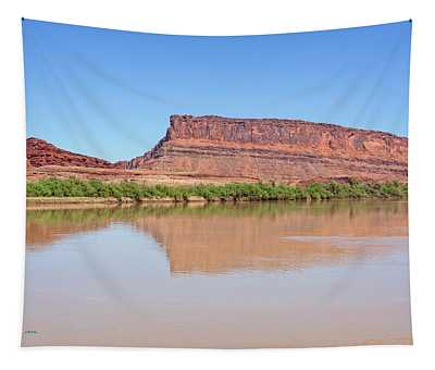 Tapestry featuring the photograph The Colorado River by Jim Thompson