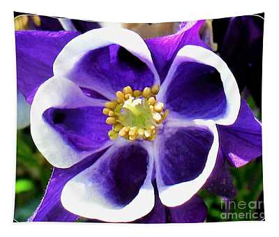 Tapestry featuring the photograph The Columbine Flower by Patti Whitten
