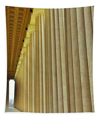 The Columns At The Parthenon In Nashville Tennessee Tapestry