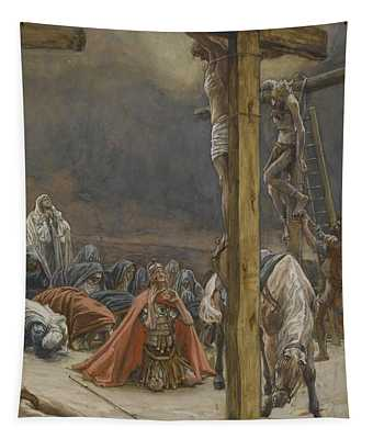 The Confession Of Saint Longinus Tapestry