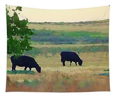 The Cows Next Door Tapestry