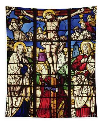 The Crucifixion, Stained Glass Window Tapestry