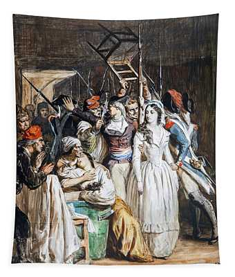 The Death Of Marat Tapestry