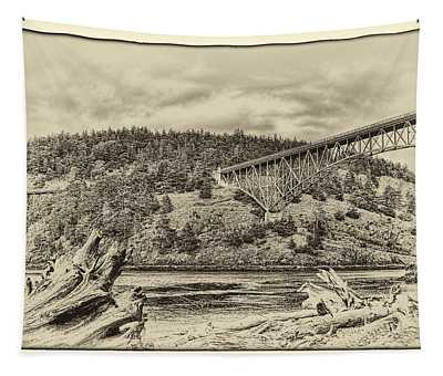 The Deception Pass Bridge In The Puget Sound Tapestry