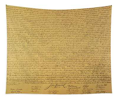 Us Constitution Wall Tapestries