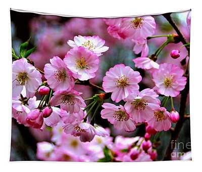 Tapestry featuring the photograph The Delicate Cherry Blossoms by Patti Whitten