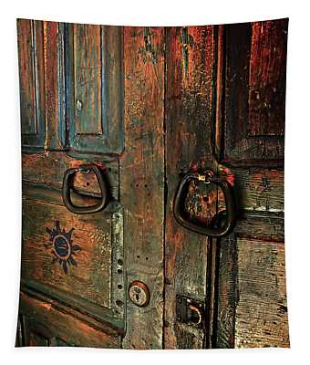 The Door Of Many Colors Tapestry
