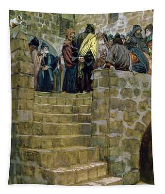 The Evil Counsel Of Caiaphas Tapestry