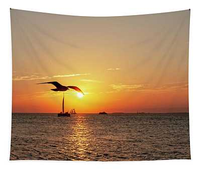 The Famous Key West Sunset  Tapestry