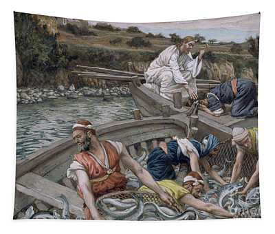 The First Miraculous Draught Of Fish Tapestry