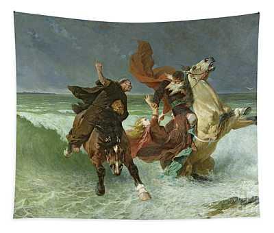 The Flight Of Gradlon Mawr Tapestry