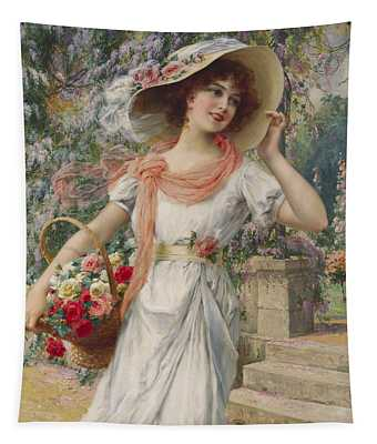 The Flower Girl Tapestry