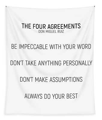 The Four Agreements #minismalism #shortversion Tapestry