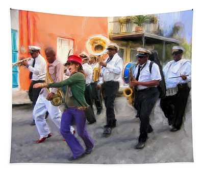 The French Quarter Shuffle Tapestry