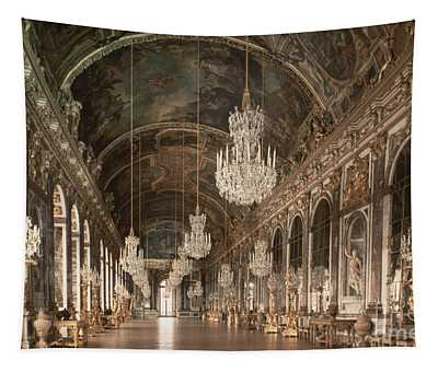 The Galerie Des Glaces  Hall Of Mirrors Tapestry