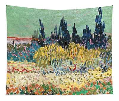 The Garden At Arles  Tapestry