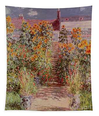 The Garden At Vetheuil Tapestry