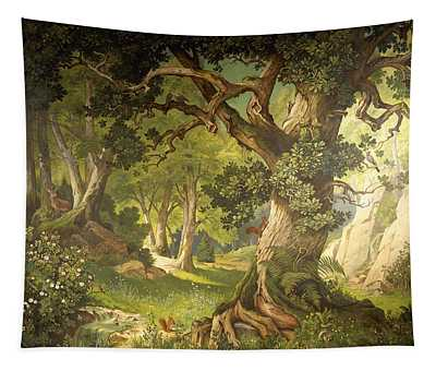 The Garden Of The Magician Klingsor, From The Parzival Cycle, Great Music Room Tapestry