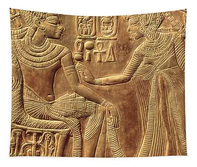 The Golden Shrine Of Tutankhamun Tapestry