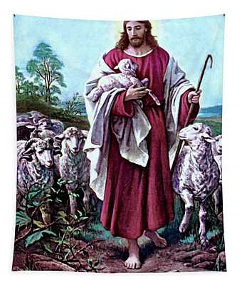 The Good Shepherd 1878 Bernhard Plockhorst Tapestry