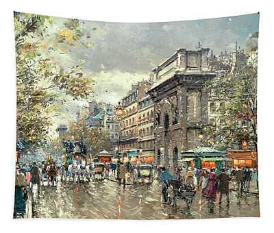 The Grands Boulevards- Porte St. Martin And Porte St. Denis Tapestry