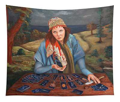 The Gypsy Fortune Teller Tapestry