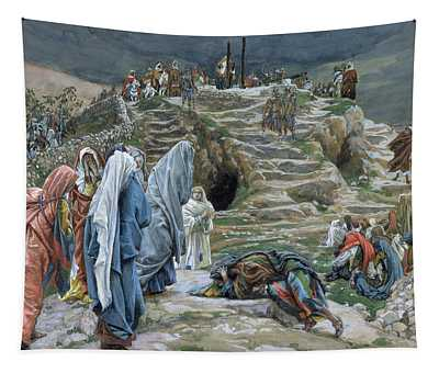 The Holy Women Stand Far Off Beholding What Is Done Tapestry