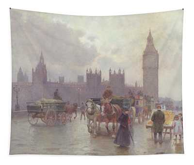 The Houses Of Parliament From Westminster Bridge Tapestry