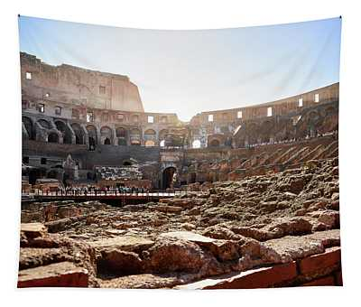 The Interior Of The Roman Coliseum Tapestry