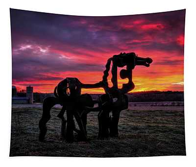 The Iron Horse Sun Up Art Tapestry