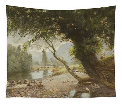 The Ivy, The Oak And The Bonnie Birken Tree Tapestry