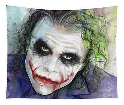 The Joker Watercolor Tapestry