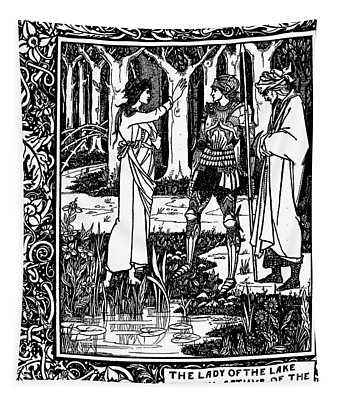 The Lady Of The Lake Telleth Arthur Of The Sword Excalibur Tapestry