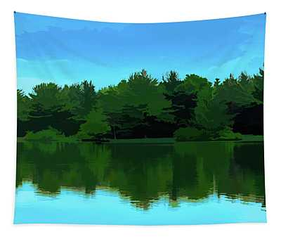 The Lake - Impressionism Tapestry